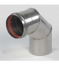 Ubbink - Bocht 90 gr inox naturel 100 mm 316L d: 0,4 mm HR+, HRtop & M