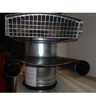 Ventilair - MCTH / Metalen dakkap zwart 160mm