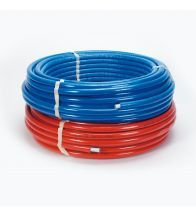 Begetube - Tube composite thermo 10mm 32x3mm rouge Alpex isol flex sur rouleau 25m chauffage