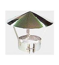 Isoleco - Dubbelw.inox afvoer 150 mm regenkap aisi 316L/304