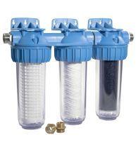Honeywell - Filtre Triplex avec préfiltre lavable, filtre fin et filtre au charbon actif pour l'eau de pluie, PN - FF60