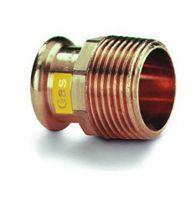 VSH - Brons GASpressfitting puntstuk 1/2Mx22 code - G6243G