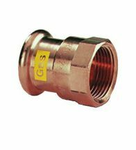 VSH - Brons GASpressfitting puntstuk 3/4Fx22 code - G6270G
