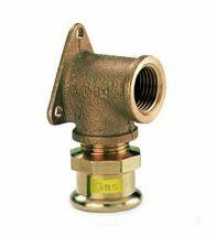 VSH - Brons GASpressfitting muurpl.90 1/2Fx15 code - G6471G
