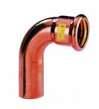 VSH - Roodkoper GASpressfitt. bocht 90 22 MF code - G7001A