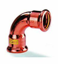 VSH - Roodkoper GASpressfitt. bocht 90 15 FF code - G7002A