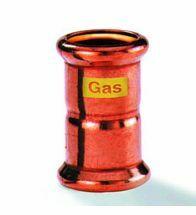 VSH - Roodkoper GASpressfitting sok 22 mm ff code - G7270