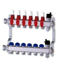 Radson - RVS verdeler incl. debietmeter - 6 kringen aut. ontl. - voorgemonteerd