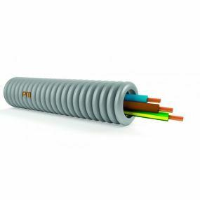 Tube précâblé 16mm 3G1,5(ECA) blue+brun+jaunevert rouleau 50m