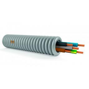 Tube précâblé 16MM 5G1,5 (ECA) blue+brun+noir+vert+jaunevert rouleau 50m
