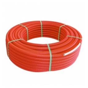 Begetube - Tube composite sous gaine 16x2mm rouge Alpex duo flex sur rouleau 100m chauffage