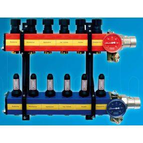 Komfort collecteur SBK 4100 1 + 9 x 3/4 ek plastique purgeur débitmètre - U4100009