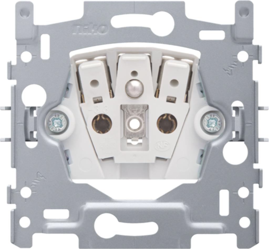 Niko - Sokkel stopcontact + penaarde + kinderveiligheid 28,5 MM steekklemmen - 170-33105
