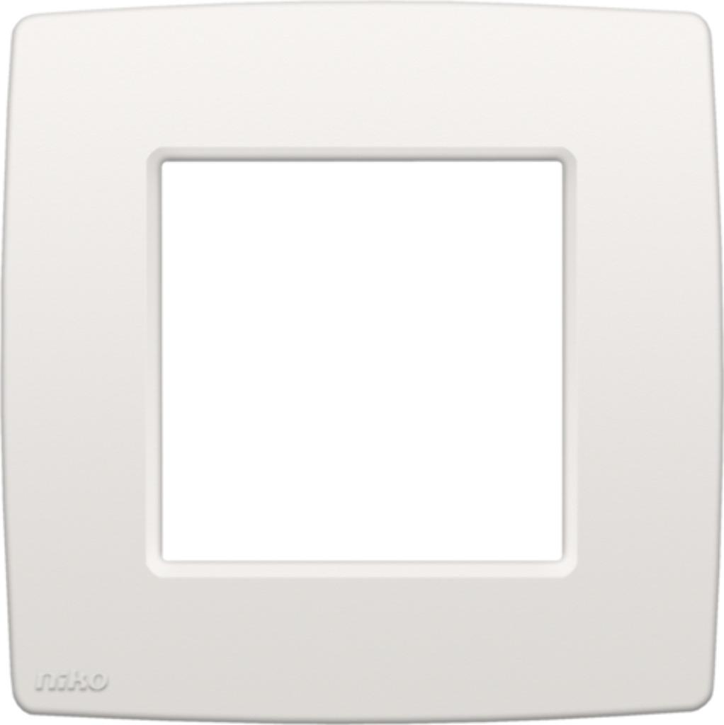 Niko - Afdekplaat enkelvoudig white - 101-76100